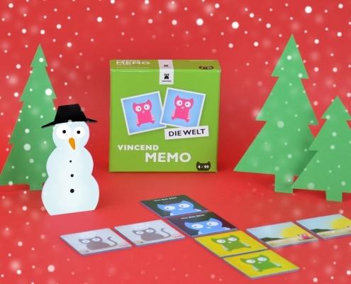 Vincend Spielzeug Geschenkidee Weihnachten Nikolaus Geschenk Memory Memo Weihnachtsgeschenk